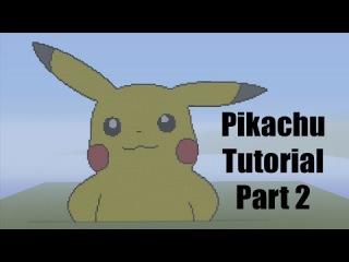 Minecraft Pixel Art Tutorial: How to make Pikachu Part 2 (Pokemon)