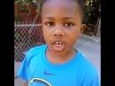 Little boy saying Lebron James