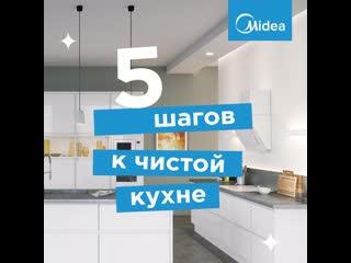 5 шагов к чистой кухне