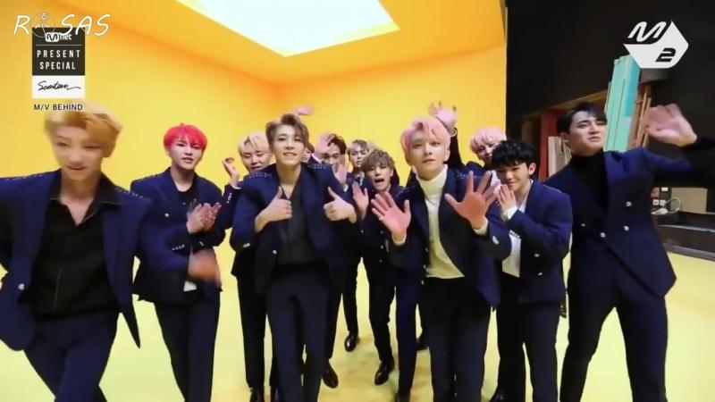 [ROSAS RUS SUB] SEVENTEEN- CLAP '박수' MV BEHIND SCENE