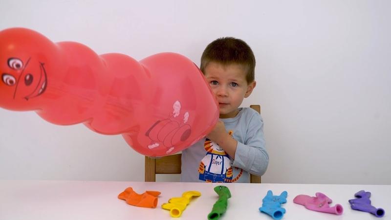 Learn Colors for Children Ballons animal Finger Family Song Nursery Rhymes