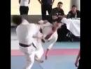 Вертуха в прыжке  пяткой в голову наповал в Кёкусинкай карате. Подготовка бойца