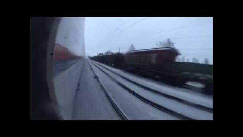 High-speed trainsurfing 250 kmh in Russia Зацепинг на Сапсане СПБ-МСК (2 way)