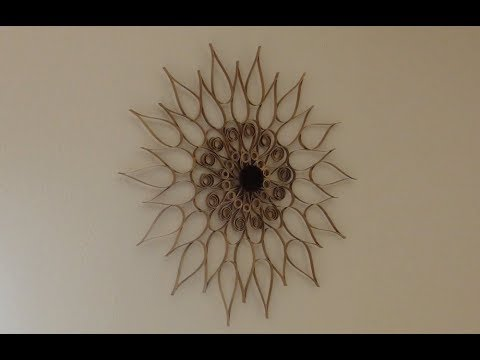 DIY Swirly Sunburst Wall Art Decor made out Upcycled Paper