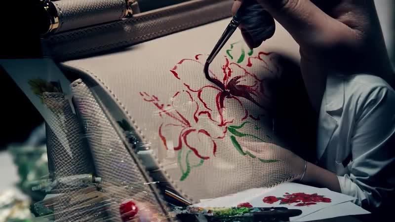 Ручная роспись на сумках Dolce Gabbana