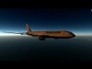 Вечерний полет на Boeing 777-200LR в X-Plane 11