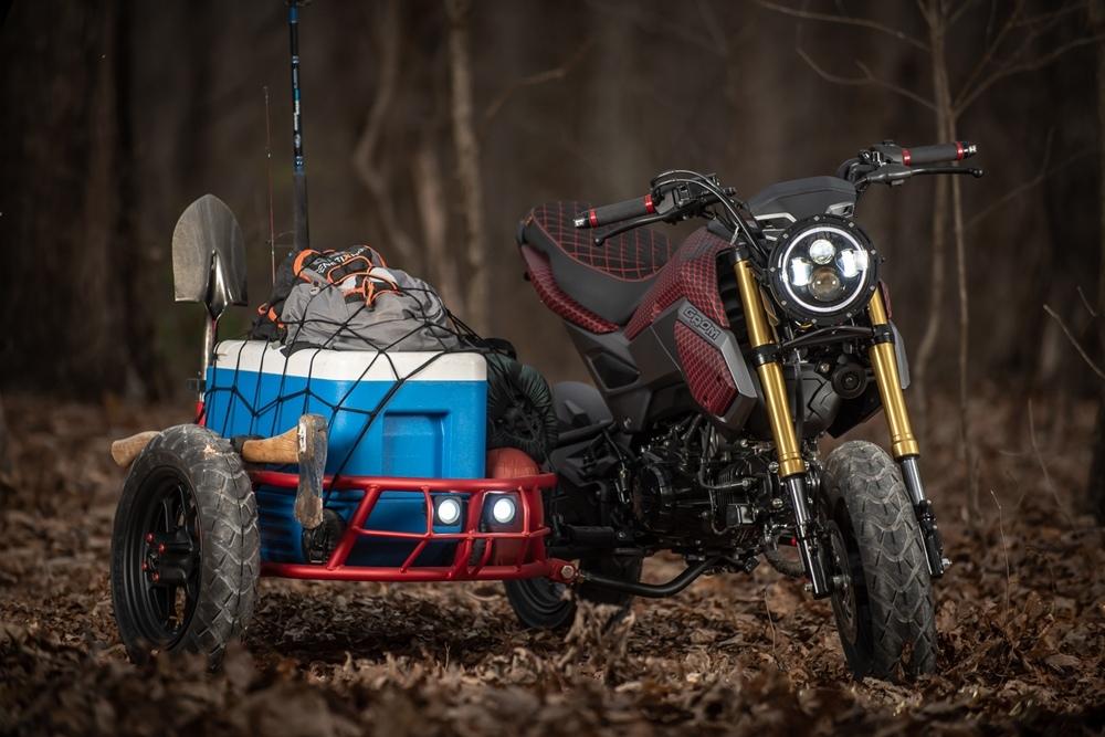 Industrial Moto: кастом GUS - Honda Grom с коляской