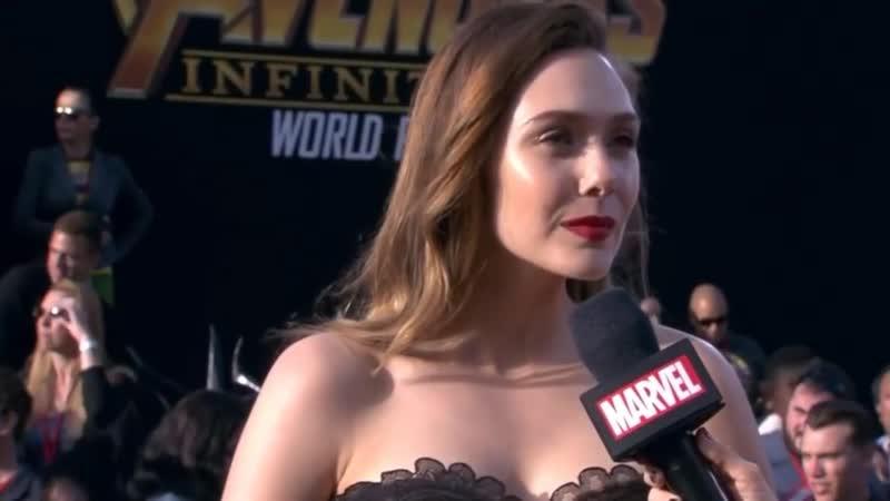 Elizabeth Olsen (Scarlet Witch) Interview - Avengers Infinity War World Premiere Red Carpet