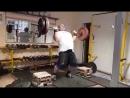 Видас Блекайтис (Литва), подъём на грудь и жим штанги весом 150 кг на 4 раза, подготовка к турниру памяти Ирины Ширяевой 💪