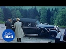 Hitler climbs into Mercedes 770K limo in rare colour footage