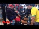 Roelly Winklaar Trains Legs 3 1/2 Weeks Before the 2014 Olympia