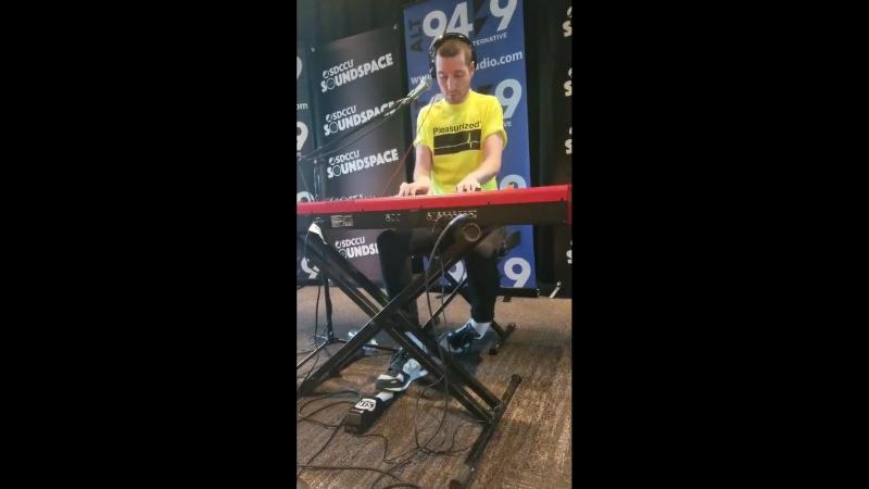 Dan performing Blame at Alt 94.9 Radio Session