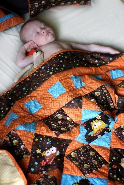 Детское лоскутное одеяло и не