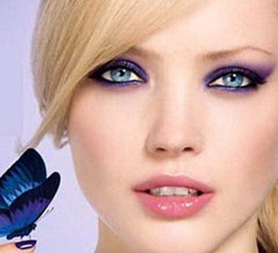 Вечерний макияж матовыми тенями чернымбелым серым цветом