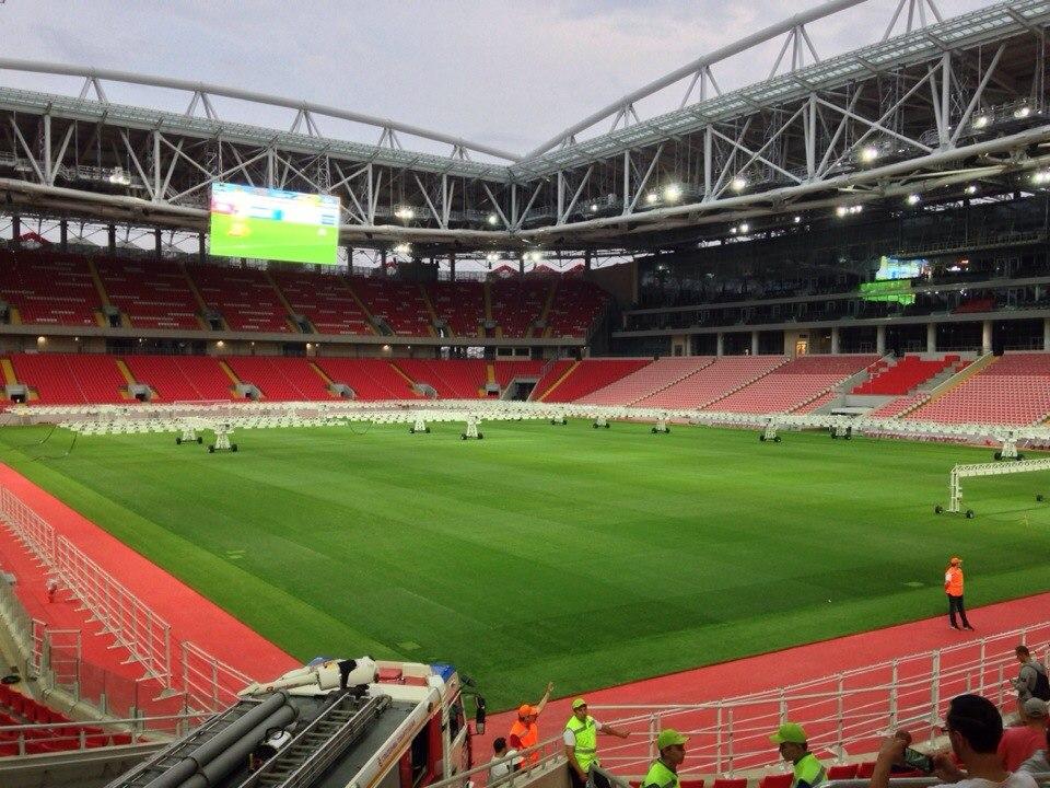 Пара свежих фото со строительства спартаковского стадиона