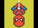 Рисуем по клеточкам 10 Человека Паука spider man pixel art