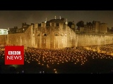Tower of London illuminated for Armistice tribute - BBC News