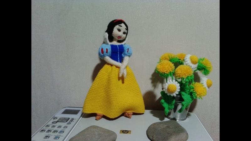 Белоснежка, ч.1. Snow White, р.1. Amigurumi. Crochet. Амигуруми. Игрушки крючком.