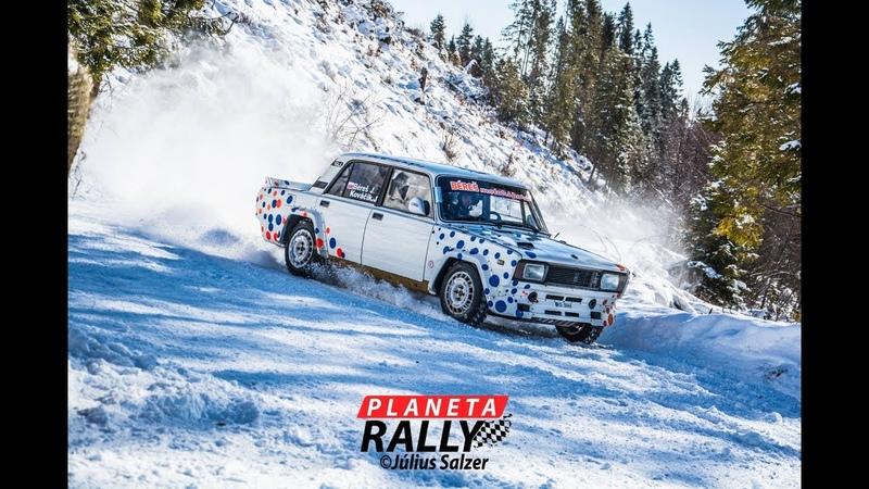 Jozef Béreš jr Lada VFTS Lancer Evo IX WINTER RALLY Levoča Crash Action