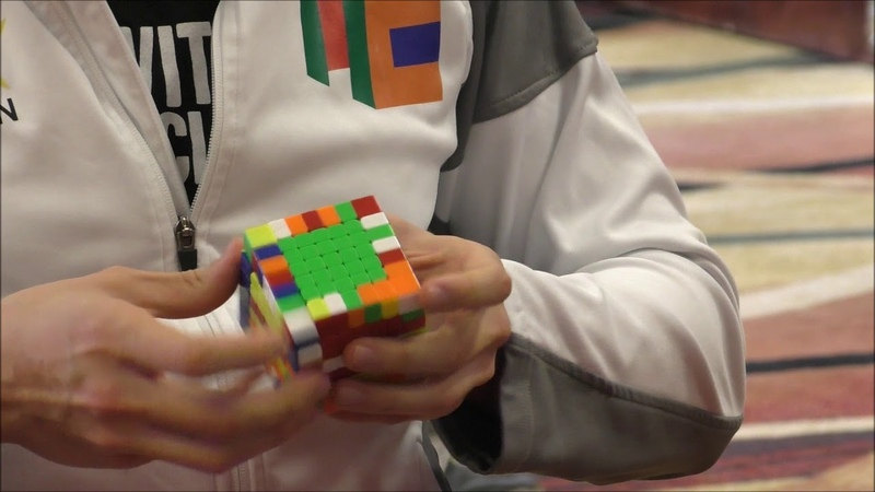 1:57.76 - 7x7 Rubik's Cube Official World Record