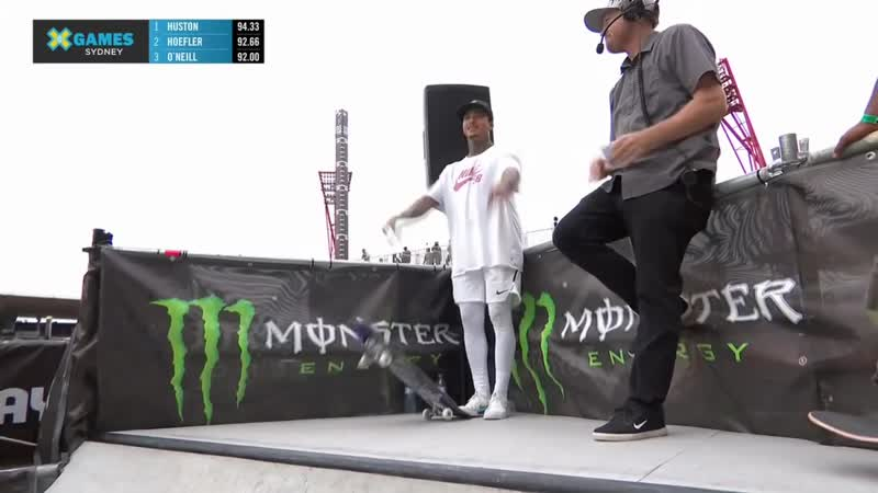 Nyjah Huston wins gold in Men's Skateboard Street _ X Games Sydney 2018