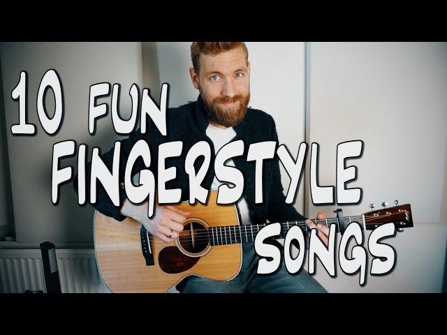 10 fun FINGERSTYLE guitar songs » Freewka.com - Смотреть онлайн в хорощем качестве