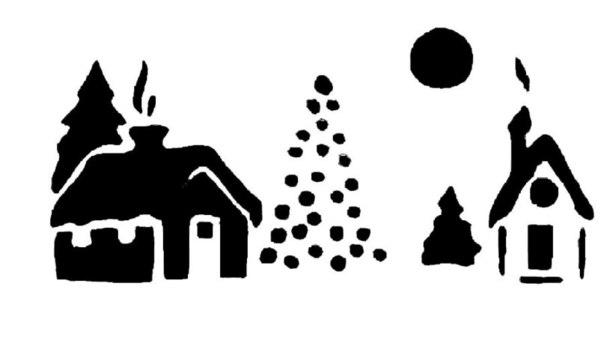 ✨ Новогодние трафареты на окна и зубная паста ============================== ✂ #hand_made #сделай_сам #мастер_классы