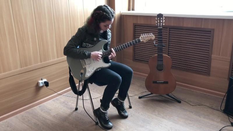Меньковская Яна (guitar cover) Three Days Grace - I hate everything about you