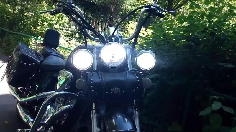 Установка/испытание LED лампы H4 в стандартную фару Honda Steed