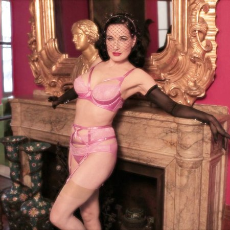 """Dita Von Teese on Instagram: """"My bestselling Madame X @ditavonteeselingerie set, in Paradise Pink! It's available for a limited time @figleavesoffi..."""