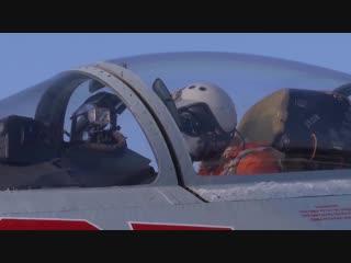 Вылет дежурного истребителя ПВО Су-27 для сопровождения самолета ВВС Швеции над Балтийским морем