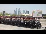 Кадеты школы №41 на генеральной репетиции парада Победы на Поклонной горе