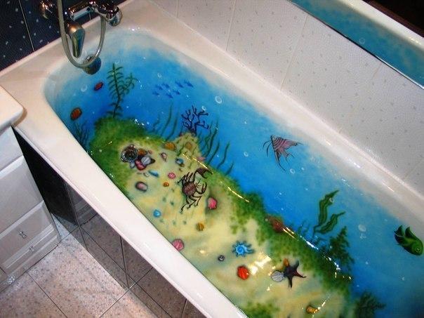 Оформление ванной. В такой ванне деткам плескаться в два раза веселее!