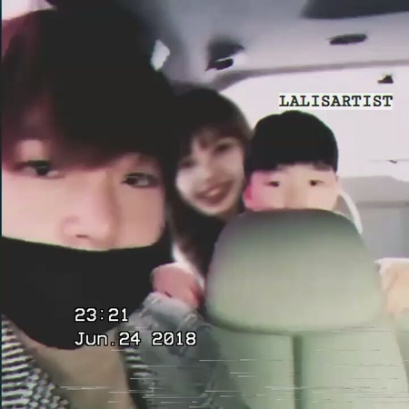 "TAELICE 💜 [ BTS ♡ Blackpink ] on Instagram: ""Taetae: taekwon baby, look at the camera. Lisa: *smiles* look at daddy baby Taekwon: *feels shy and h..."