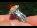 EGL USA Certified VS2 Natural Fancy Yellow Diamond 18k Engagement Ring Pendant C497