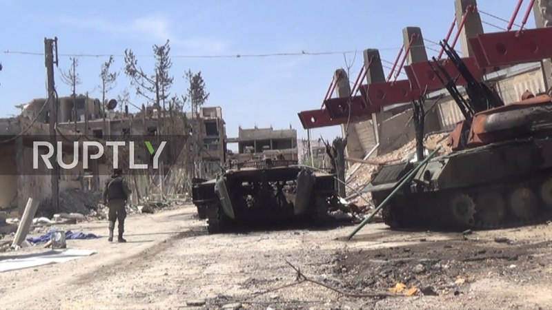 Syria Abandoned tanks and ruined buildings haunt liberated Douma