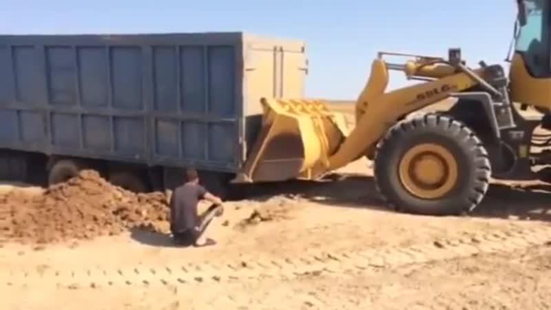 Зерновоз Провалился в Глину PEREGRUZ
