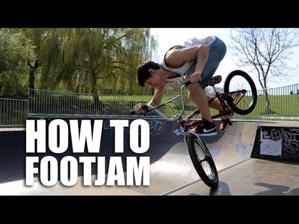 How to footjam BMX (Как сделать футджем в радиусе) | Школа BMX Online 20