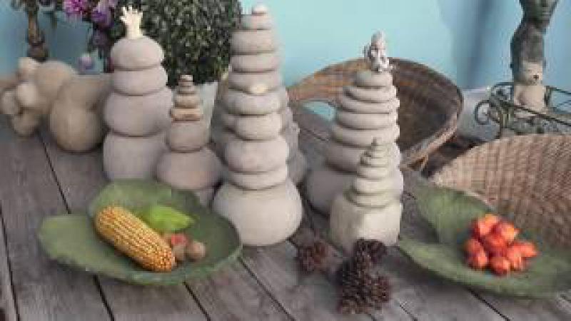 Beton giessen, DIY, Gartenstehlen, Gartendeko, Skulptur