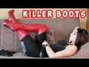 NANDO MUZI Size 38 US 7 platform steel high heels overknee thigh boots leather stiefel