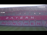 August 4, 2018. The new look of the Allianz Arena - Hymn FCB - Stern des Südens .
