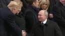 WATCH 🔴 President Trump, First Lady Melania Meet, Handshake Putin at WWI Centennial in Paris, France