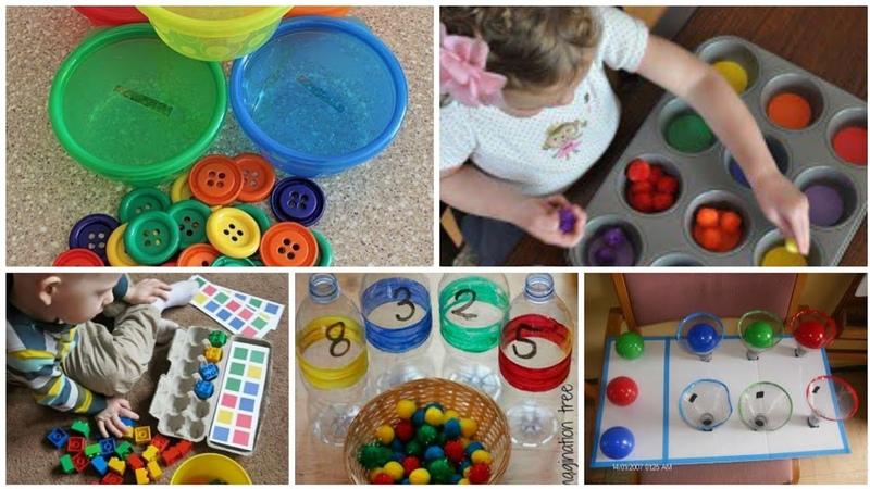 العاب ماريا منتسوري كلها أشياء متوفره في البيت اشغلي وقت طفلك ونمي ذكائه Montessori