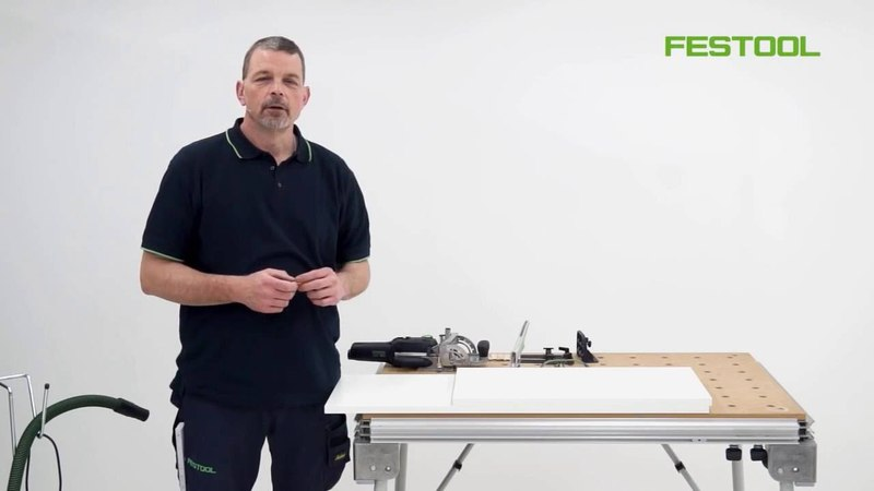 Festool Domino DF 500 Butted panel joint
