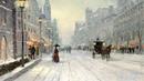 Картинка нарисованная Street хлопья painting Томас Кинкейд живопись большая horse city