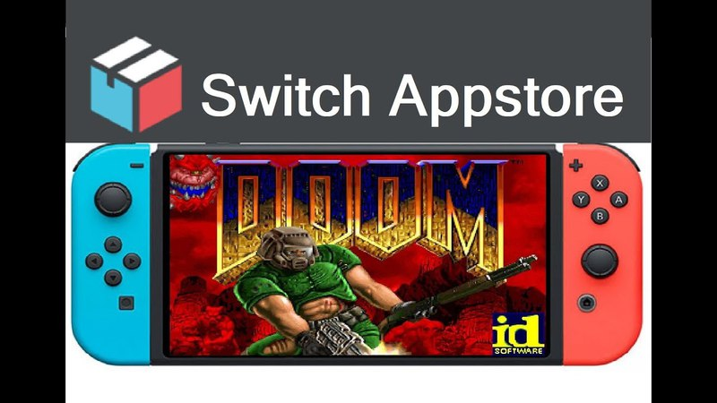 HomeBrew Appstore Doom port for Nintendo Switch with 3.0.0 firmware and HomeBrew Menu