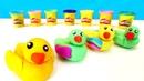 Hacemos un pato de plastilina. Animales de plastilina Play Doh.