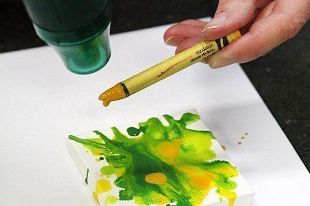 как рисуют горячим воском про