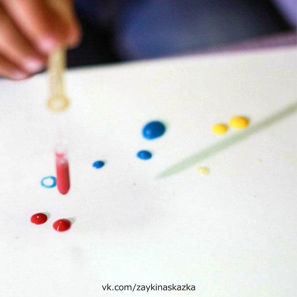 КАПЛЕГРАФИЯ: РИСУЕМ КАПЕЛЬКАМИ И ГОТОВИМ РУКУ К ПИСЬМУ Чем же полезна каплеграфия1. Работа с разными цветами привлекает внимание ребенка, делает занятие ярким и интересным. Рисовать нужно точно