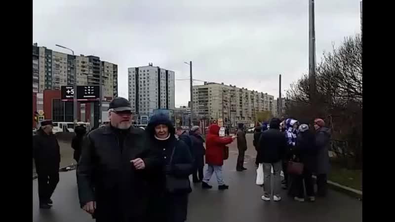 Защитим парк МАЛИНОВКА города-героя ЛЕНИНГРАДА (18.11.2018 г.) TV Левый фронт ЛЕНИНГРАД